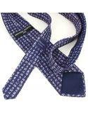 Cravate en soie, Calligraphie Chinoise, marine Brochier Soieries 1890 Cravates
