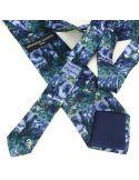 Cravate en soie, Cézanne Paysage bleu Brochier Soieries 1890 Cravates