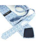 Cravate en soie, Dufy Cornets, bleu Brochier Soieries 1890 Cravates
