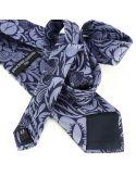 Cravate en soie, Dufy Grosses Fleurs Brochier Soieries 1890 Cravates