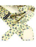 Cravate en soie, Dufy Papillons, beige Brochier Soieries 1890 Cravates