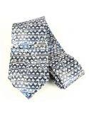 Cravate en soie, Gaudi Zig Zag Brochier Soieries 1890 Cravates