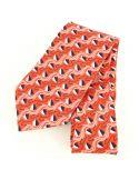 Cravate en soie, Jones Greek, orange Brochier Soieries 1890 Cravates