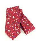Cravate en soie, Jones Italian, rouge Brochier Soieries 1890 Cravates