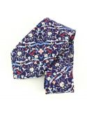 Cravate en soie, Jones Italian, bleu Brochier Soieries 1890 Cravates