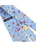 Cravate en soie, Kandinsky Bleu du Ciel Brochier Soieries 1890 Cravates