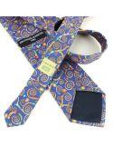 Cravate en soie, Klimt Arbre de Vie, bleu Brochier Soieries 1890 Cravates