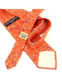 Cravate en soie, Klimt Arbre de Vie, rouge Brochier Soieries 1890 Cravates