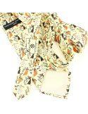 Cravate en soie, Toulouse Lautrec Jane Avril, ivoire Brochier Soieries 1890 Cravates