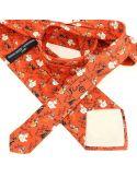 Cravate en soie, Toulouse Lautrec Jane Avril, rouge Brochier Soieries 1890 Cravates