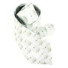 Cravate en soie, Léonard de Vinci L'Homme de Vitruve, gris
