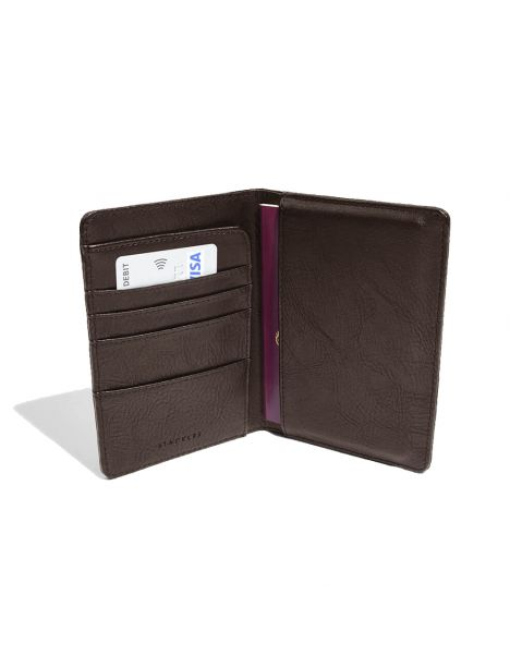 Portefeuille passeport, marron Stackers UK Portefeuille Cuir