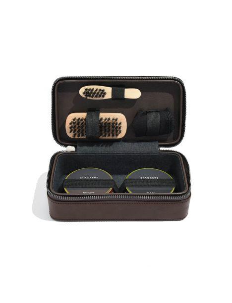 Kit d'entretien chaussures, marron Stackers UK Kits d'entretien