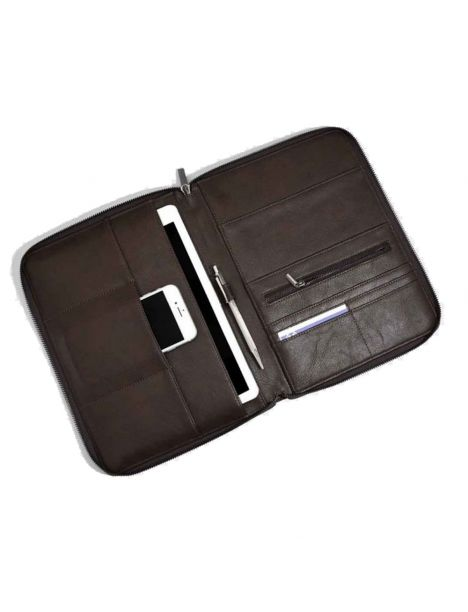 Organiseur, porte documents, vegan marron Stackers UK Portefeuille Cuir