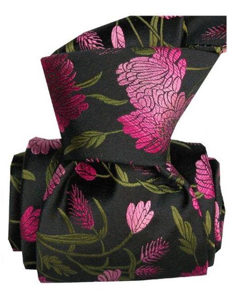 Cravate Segni Disegni LUXE, Faite main. Pivoines Roses Segni et Disegni Cravates