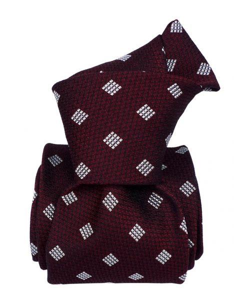 Cravate en soie, Bagheria Bordeaux Segni et Disegni Cravates