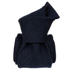 Cravate grenadine de soie et laine, Segni et Disegni, Bleu