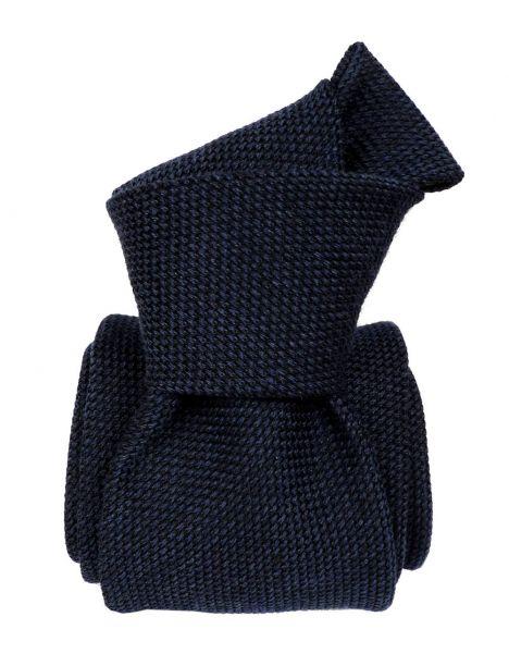 Cravate grenadine de soie et laine, Segni et Disegni, Bleu Segni et Disegni Cravates
