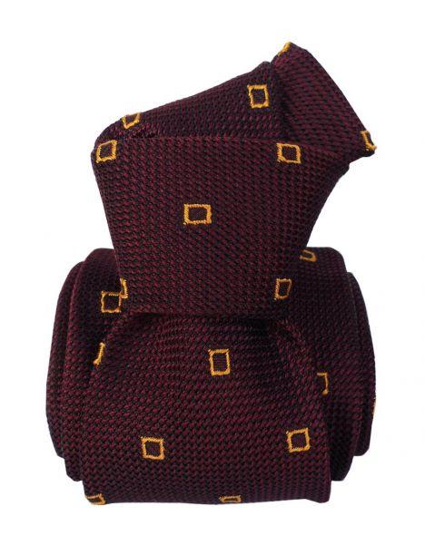 Cravate grenadine de soie, Segni & Disegni, Porto Cervo Aubergine Segni et Disegni Cravates