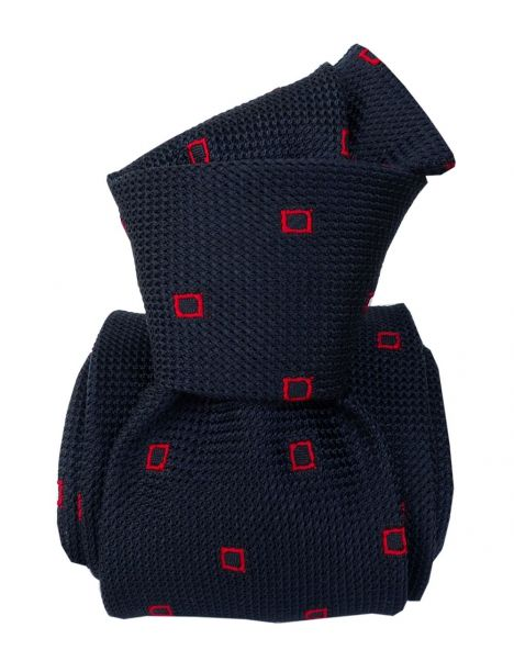 Cravate grenadine de soie, Segni & Disegni, Porto Cervo Marine Segni et Disegni Cravates