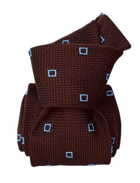 Cravate grenadine de soie, Segni & Disegni, Porto Cervo Marron Segni et Disegni Cravates