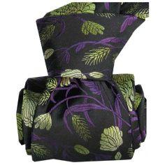 Cravate Classique Segni Disegni pure soie, Pivoines vertes