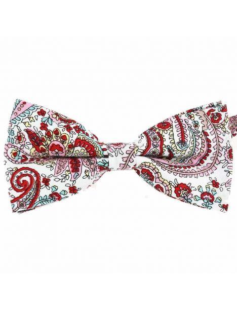 Noeud Papillon, coton, fleurs rouge Clj Charles Le Jeune Noeud Papillon
