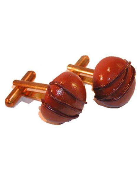 Boutons de manchette bonbons chocolat au lait lignes au chocolat La fille du consul Bouton de manchette