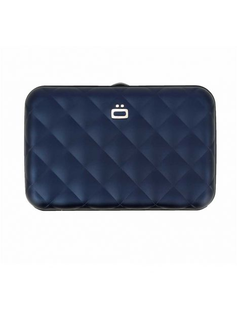 Porte carte Aluminim Navy Blue, Quilted button, Ogon Designs