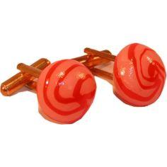 Boutons de manchette Bonbons ronds : fraise vanille