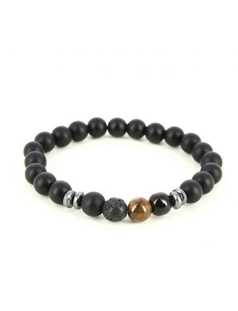 Bracelet Perles d'hématithe œil de tigre