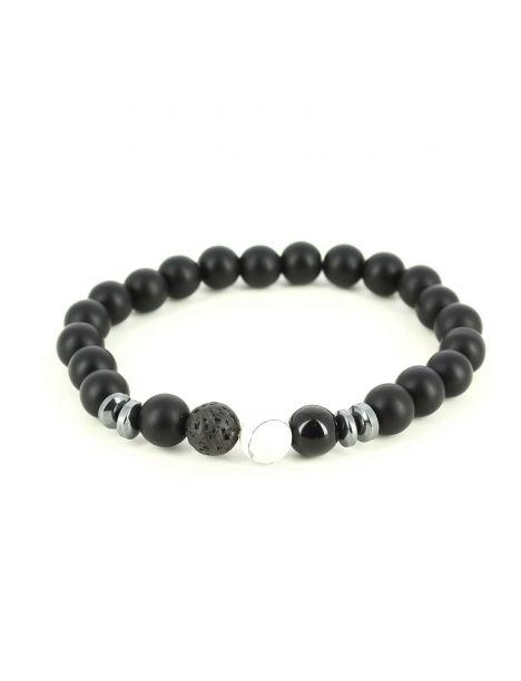 Bracelet Perles d'hématithe Blanc
