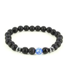 Bracelet Perles d'hématithe Bleu