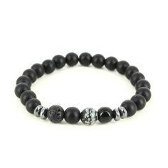Bracelet Perles d'hématithe noir