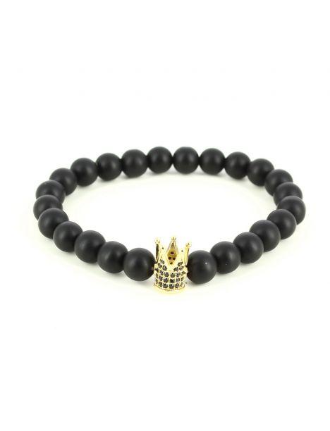 Bracelet Perles Couronne Gold