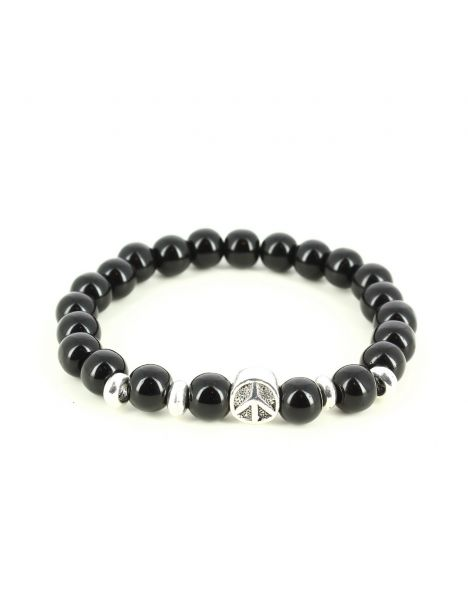 Bracelet Perles peace and love Agathe