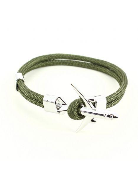 Bracelet kaki avion de ligne gris