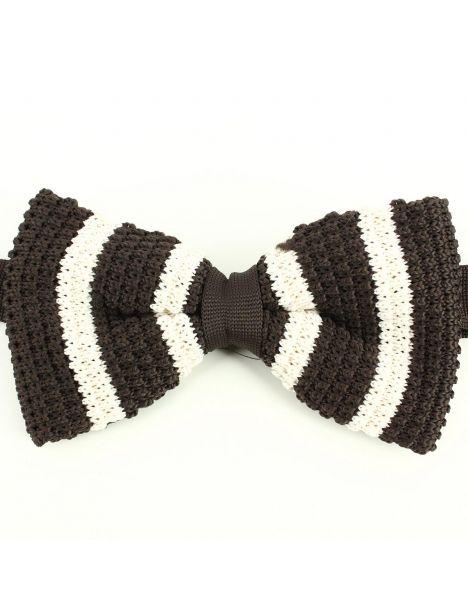 Noeud papillon tricot Dallas marron Clj Charles Le Jeune Noeud Papillon