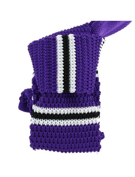 Cravate Tricot. Violet Lilas