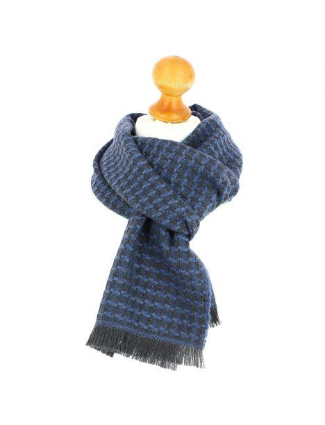 Echarpe en laine d'Australie, Glasgow Bleu carta