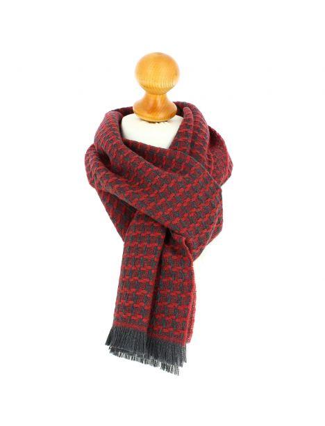 Echarpe en laine d'Australie, Glasgow Rouge