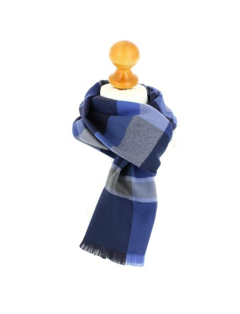 Echarpe en laine d'Australie, Ullapool Blu