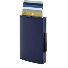 Porte carte Aluminium et cuir, Cascade Wallet, Ogon Designs, navy blue