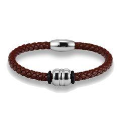 Bracelet Cuir marron, Cordoue tressé