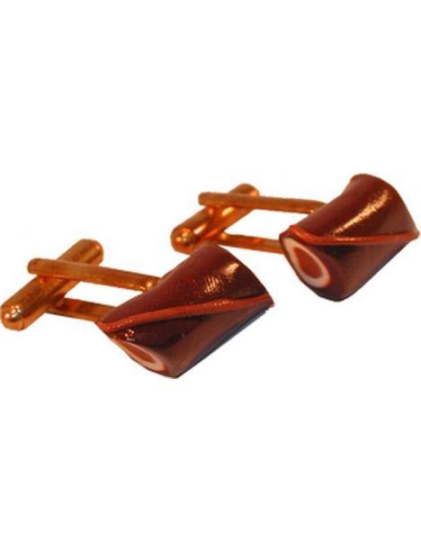 Boutons de manchette chocolat fourré vanille praline La fille du consul Bouton de manchette