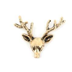 Boutonnière cerf bronze