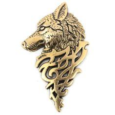 Boutonnière loup de sibérie bronze