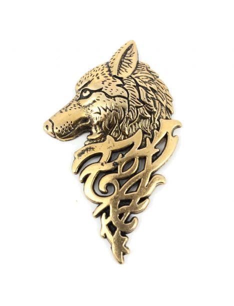 Boutonnière loup de sibèrie bronze