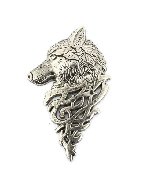 Boutonnière loup de sibèrie argenté