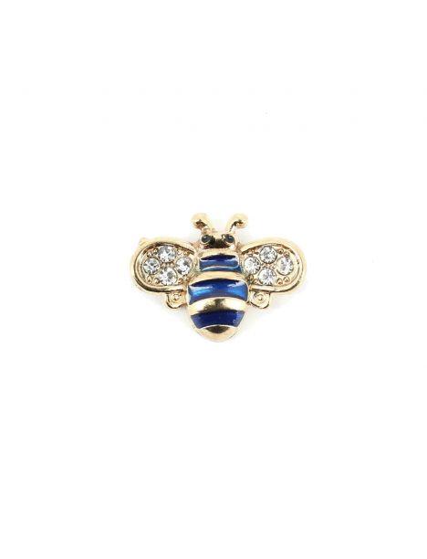 Boutonnière abeille bleu